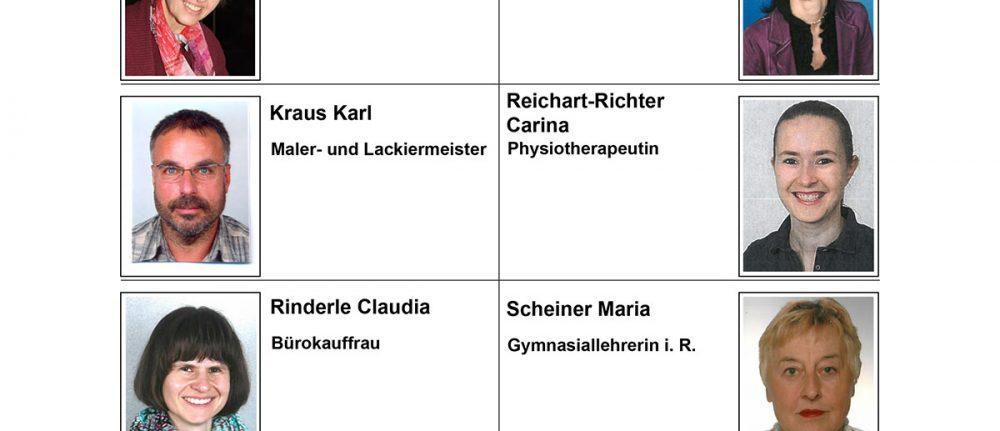 PGR-Kandidatenliste Schwabmünchen