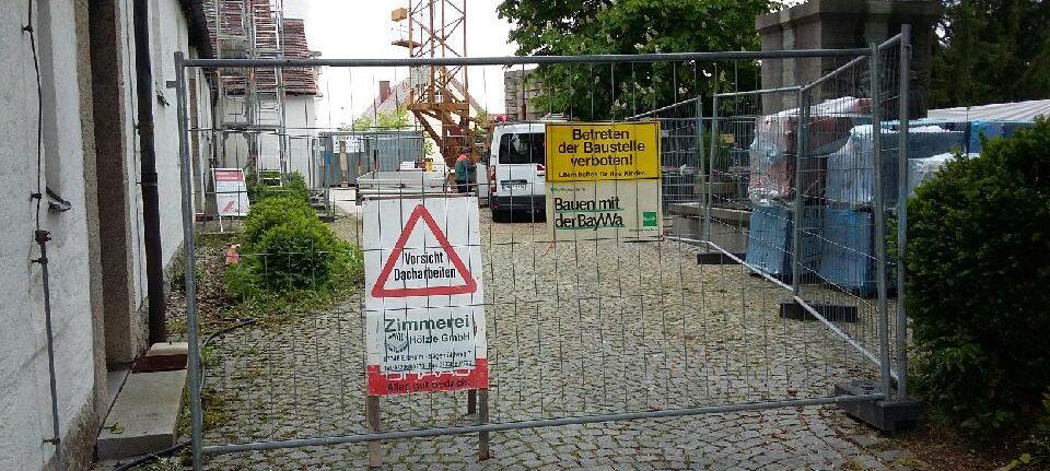Achtung Baustelle – neuer Zugang zur Kirche